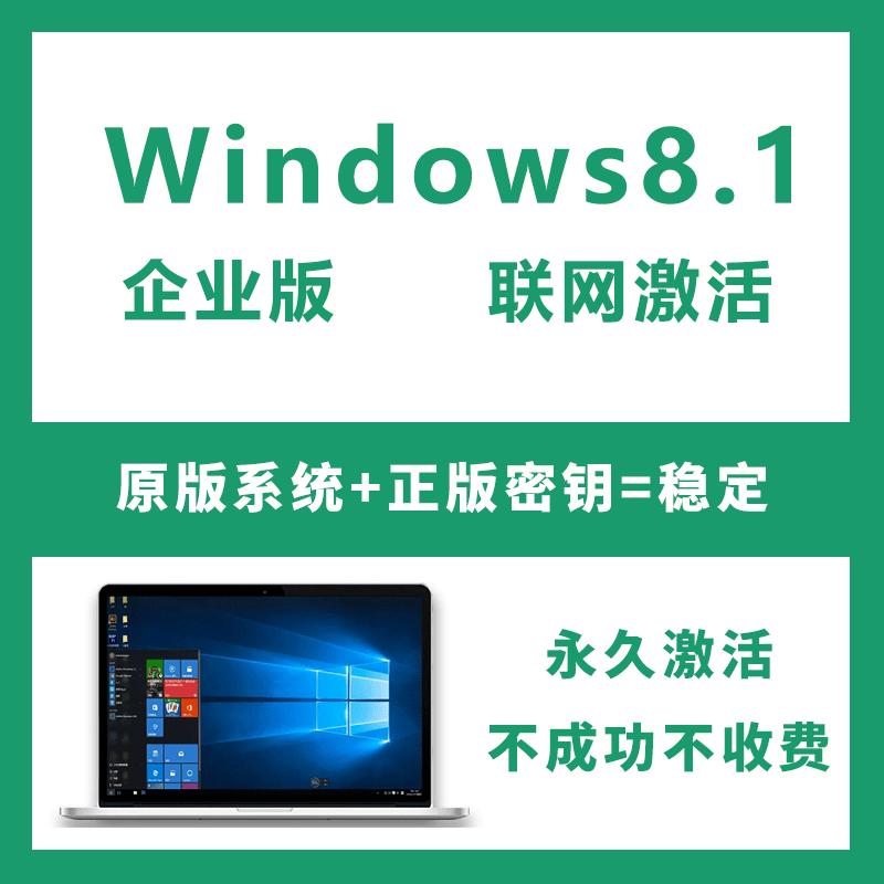 Windows8.1企业版激活密钥 自动发货 联网激活